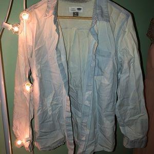 Light Wash Denim Button Up
